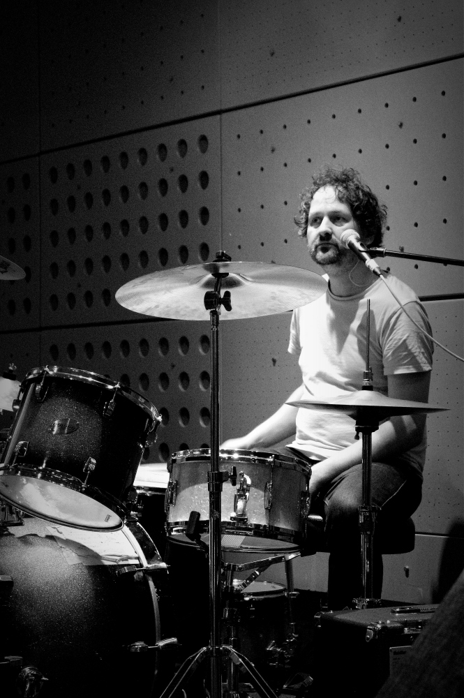 drummer drums decoration steve steven stephen taylor chin artwork indiepop indie alternative monochrome john peel studio band